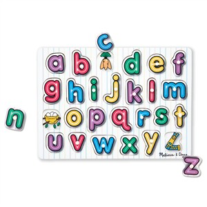 Melissa & Doug See-Inside English  Alphabet Wooden Peg Puzzle
