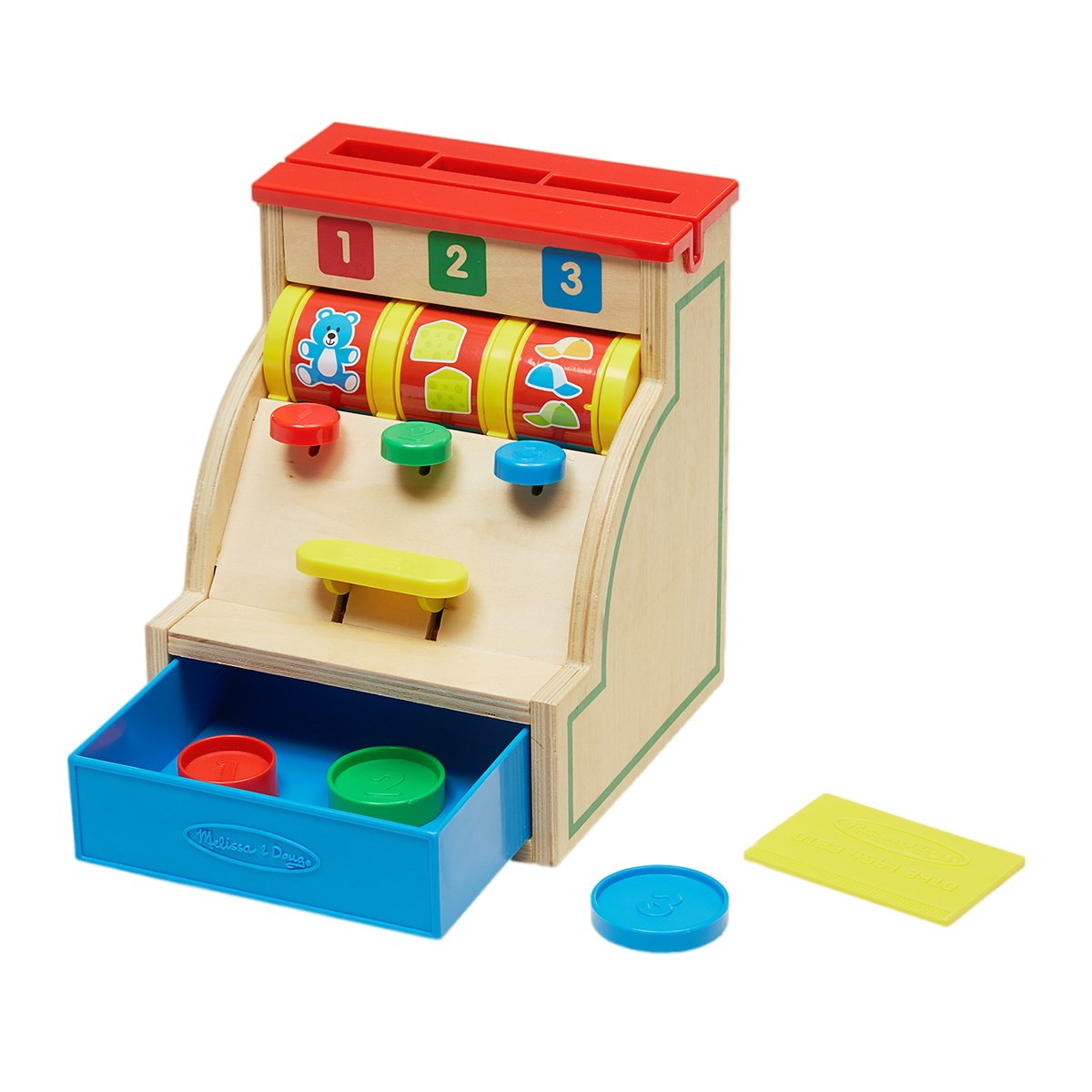 Melissa & Doug Sort & Swipe Wooden Cash Register