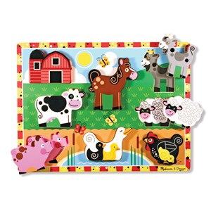 Melissa & Doug Wooden Chunky Puzzle - Farm Animals