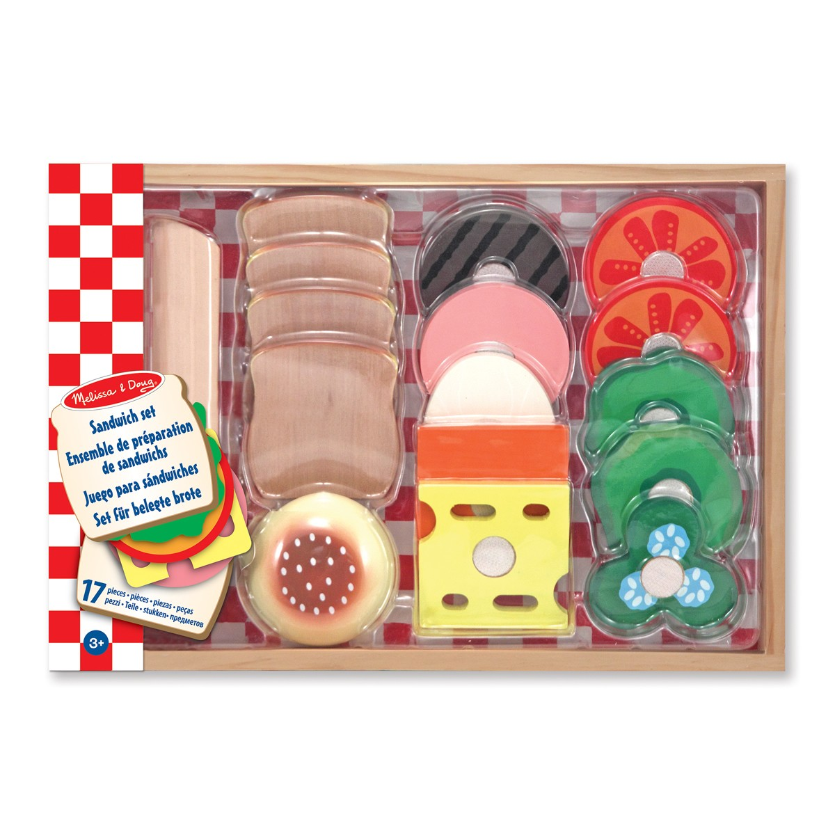 Melissa & Doug Wooden Sandwich Making Set