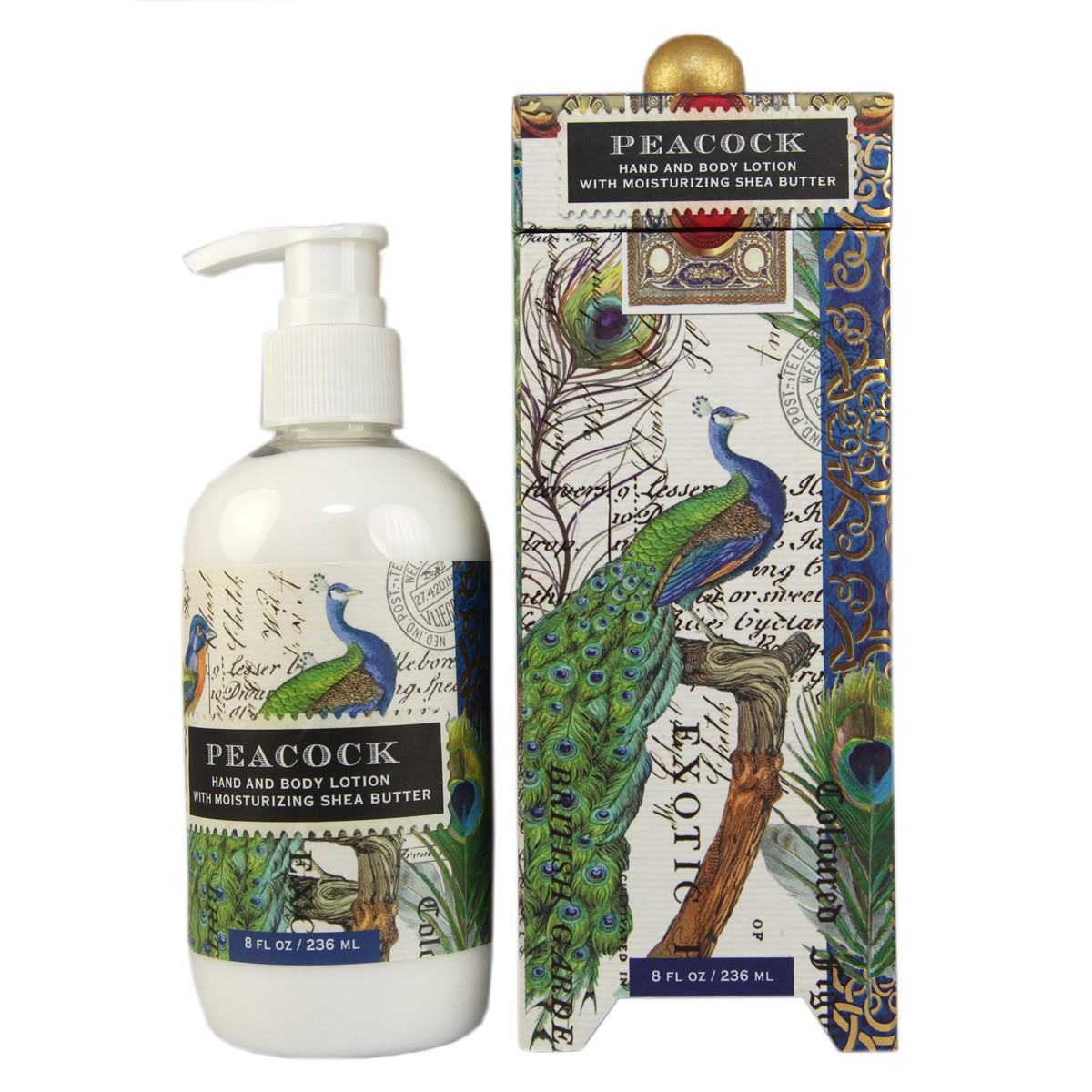 Michel Design Works Peacock Hand and Body Lotion with Moisturizing Shea Butter