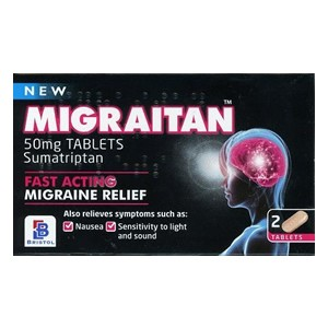 Migraitan Fast Acting Migraine Relief 50mg Tablets