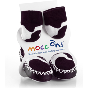 Mocc Ons Cow Print - 6-12 months