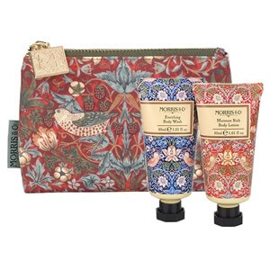 Morris & Co Strawberry Thief Bath & Body Bag