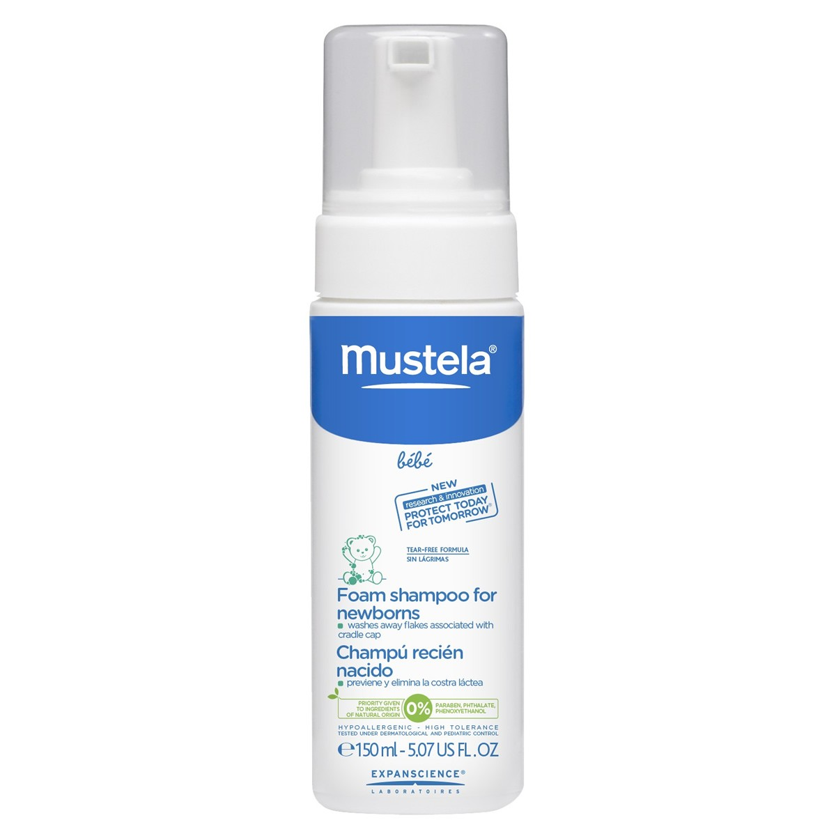 Mustela Bébé Foam Shampoo For Newborns