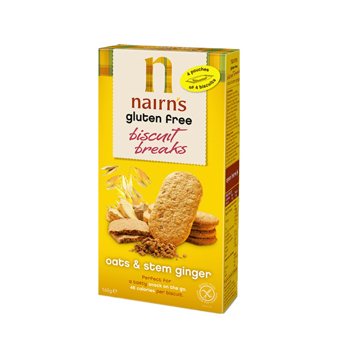 Nairn's Gluten Free Oats & Stem Ginger Biscuit Breaks