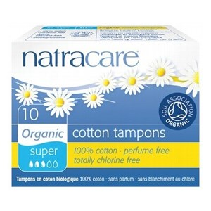 Natracare Organic & Natural Tampons - Super (non-applicator)