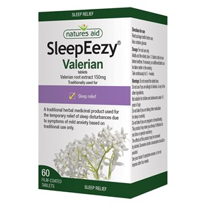 Natures Aid SleepEezy 150mg (Valerian) Tablets