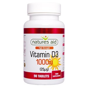 Natures Aid Vitamin D3 1,000iu