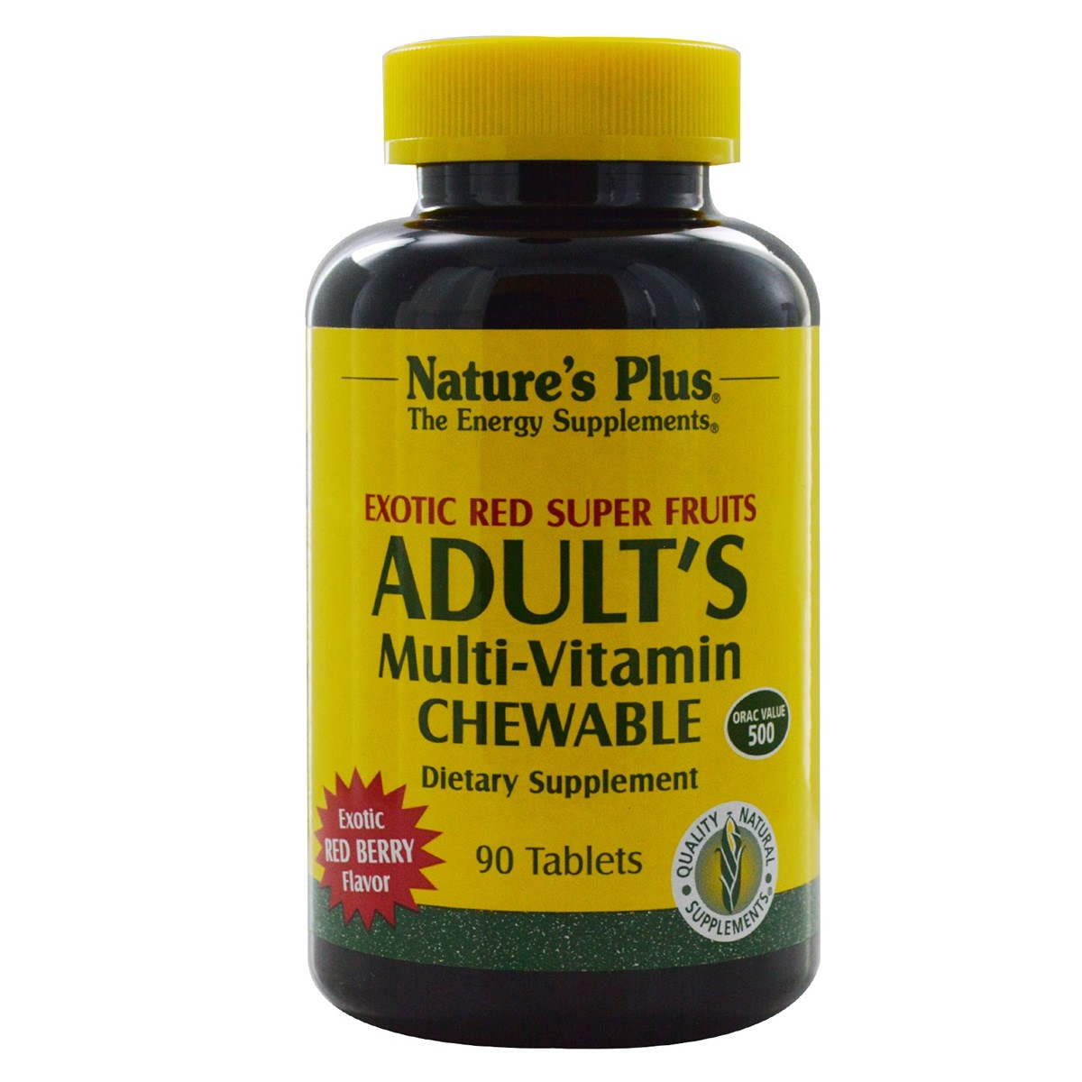 Natures Plus Adult's Multi-Vitamin Chewable Exotic Red Super Fruits