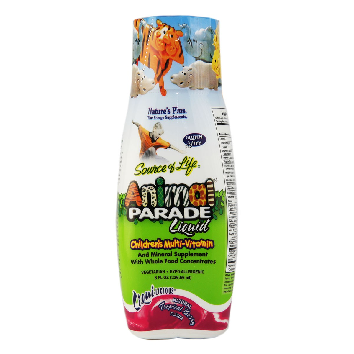 Natures Plus Animal Parade Children`s Multi-Vitamin Liquid - Natural Tropical Berry Flavor