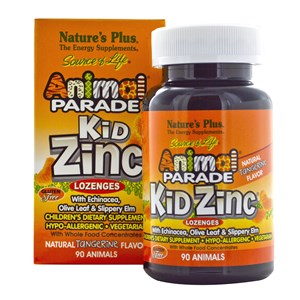 Natures Plus Animal Parade KidZinc Lozenges with Whole Food Concentrates