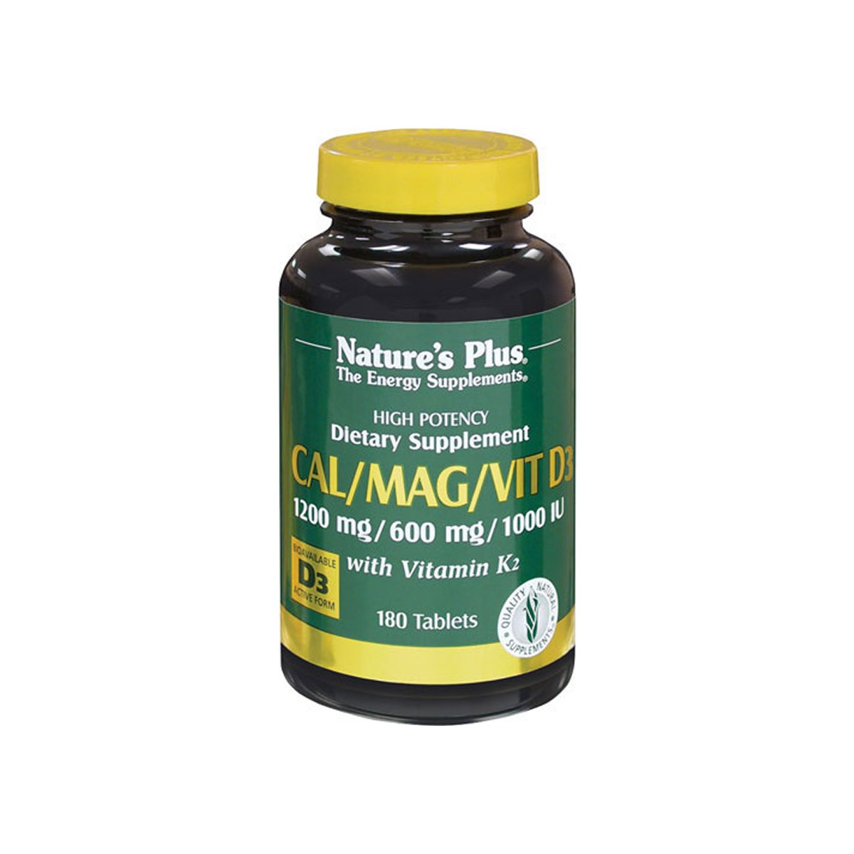 Natures Plus Cal/Mag/Vit D3 with Vitamin K2 Tablets