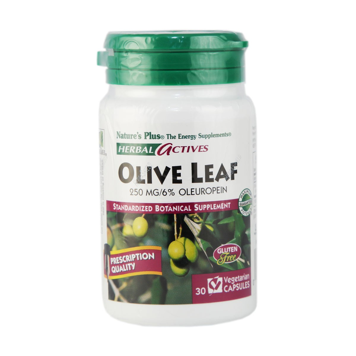 Natures Plus Herbal Actives Olive Leaf 250 mg Vcaps