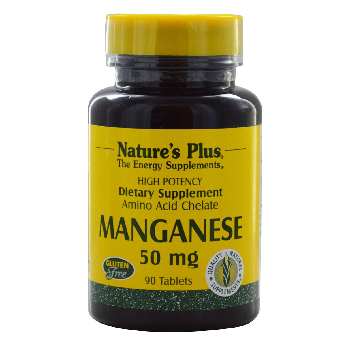 Natures Plus Manganese 50 mg Tablets