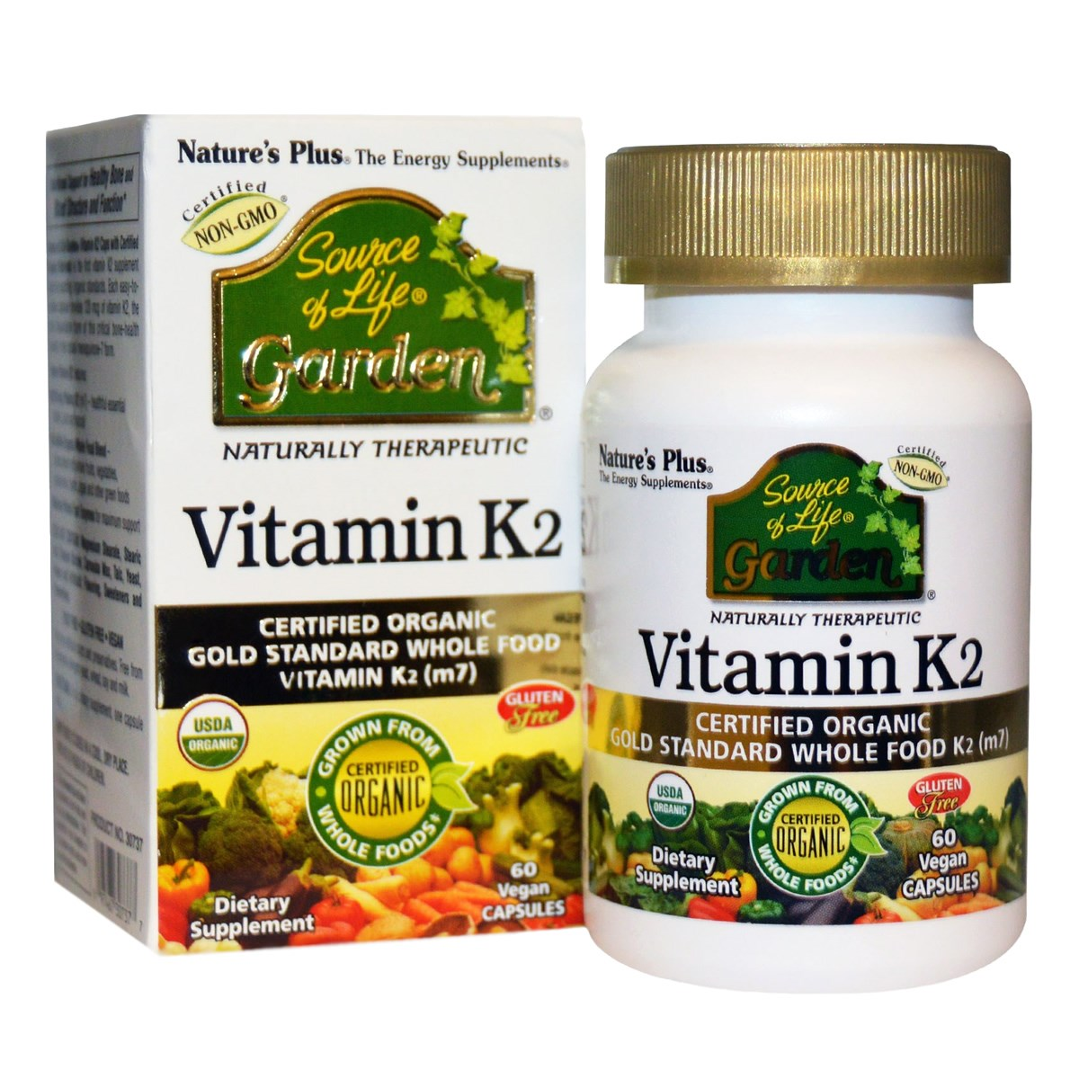 Natures Plus Source of Life Garden Vitamin K2 120 mcg Vcaps