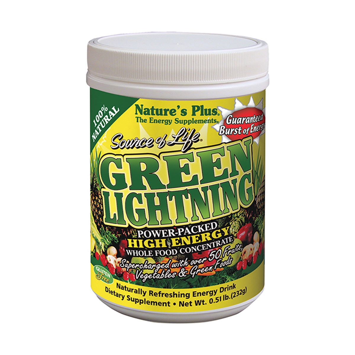 Natures Plus Source of Life Green Lightning Energy Drink