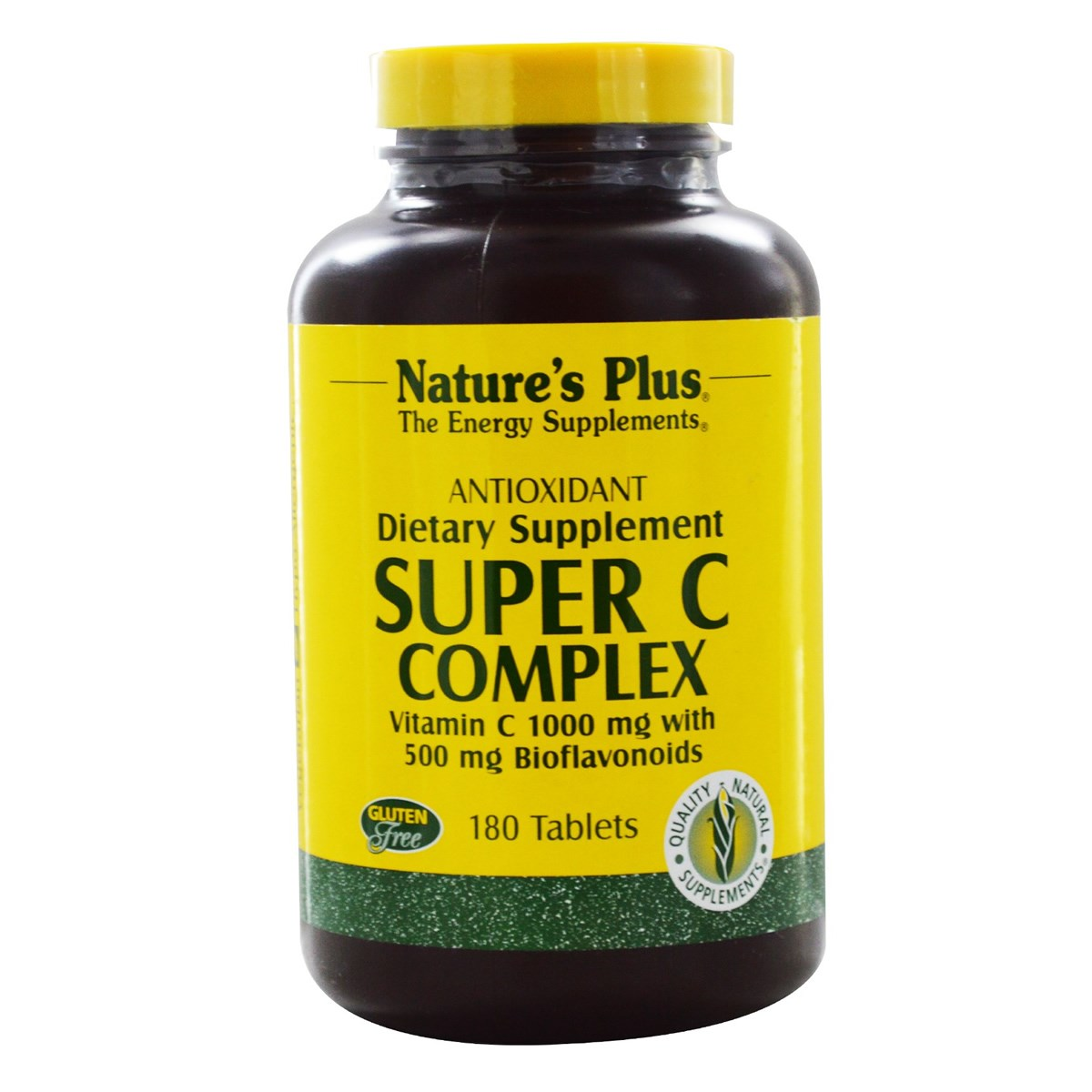 Natures Plus Super C Complex Vitamin C 1000mg with 500mg Bioflavonoids Sustained Release Tablets
