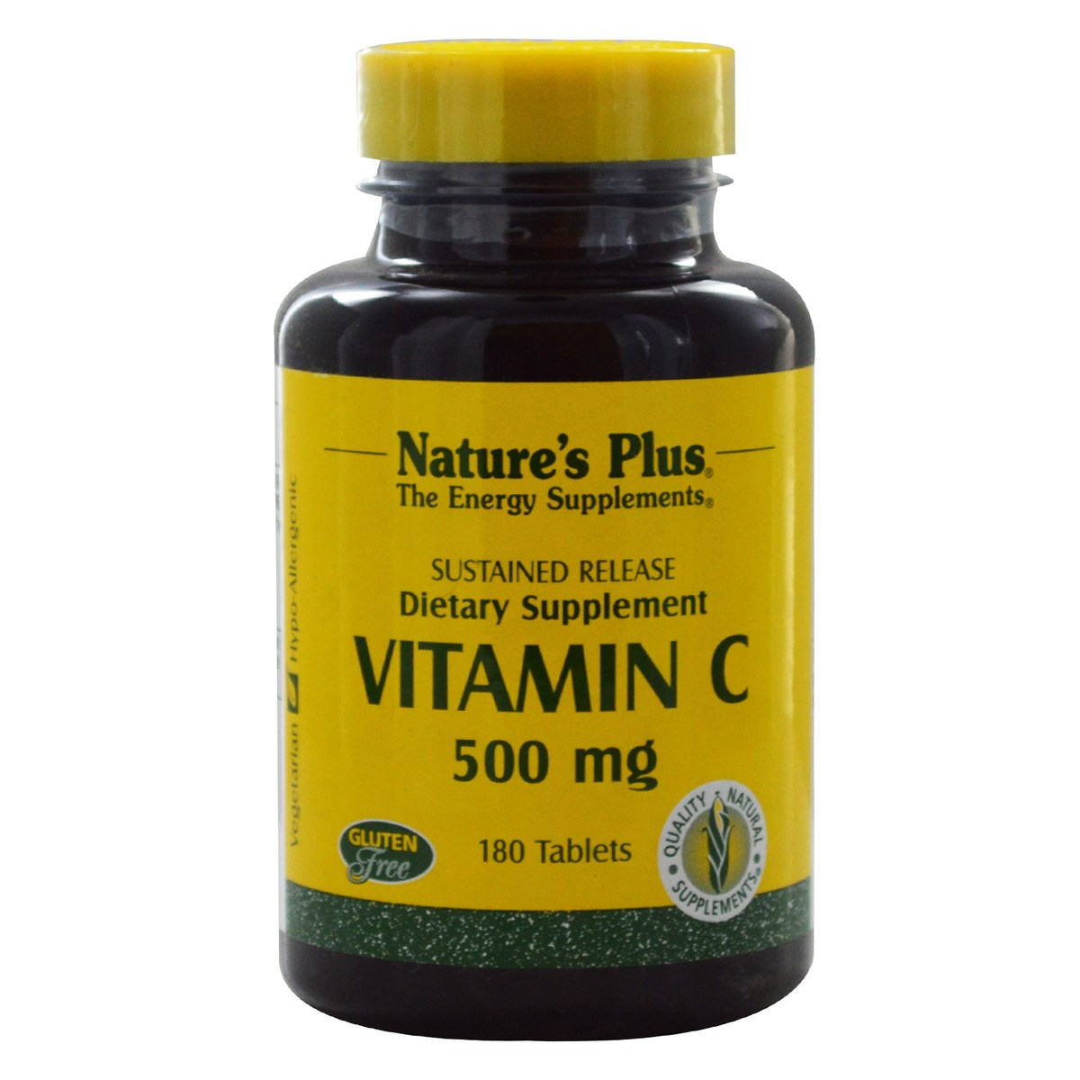Natures Plus Vitamin C 500mg Sustained Release with Rose Hips Tablets