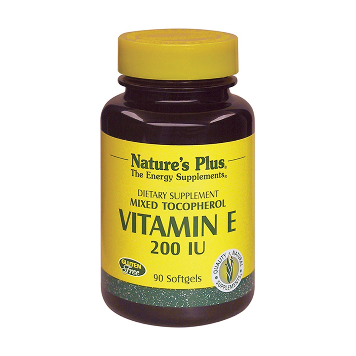 Natures Plus Vitamin E 200 IU Mixed Tocopherol Softgels