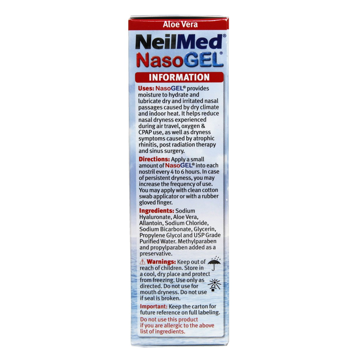 NeilMed NasoGel for Dry Noses