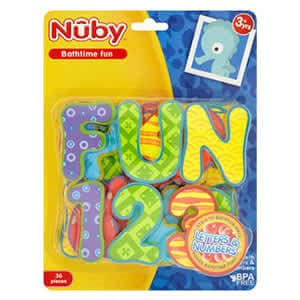 Nuby Bathtime Fun - Letters & Numbers