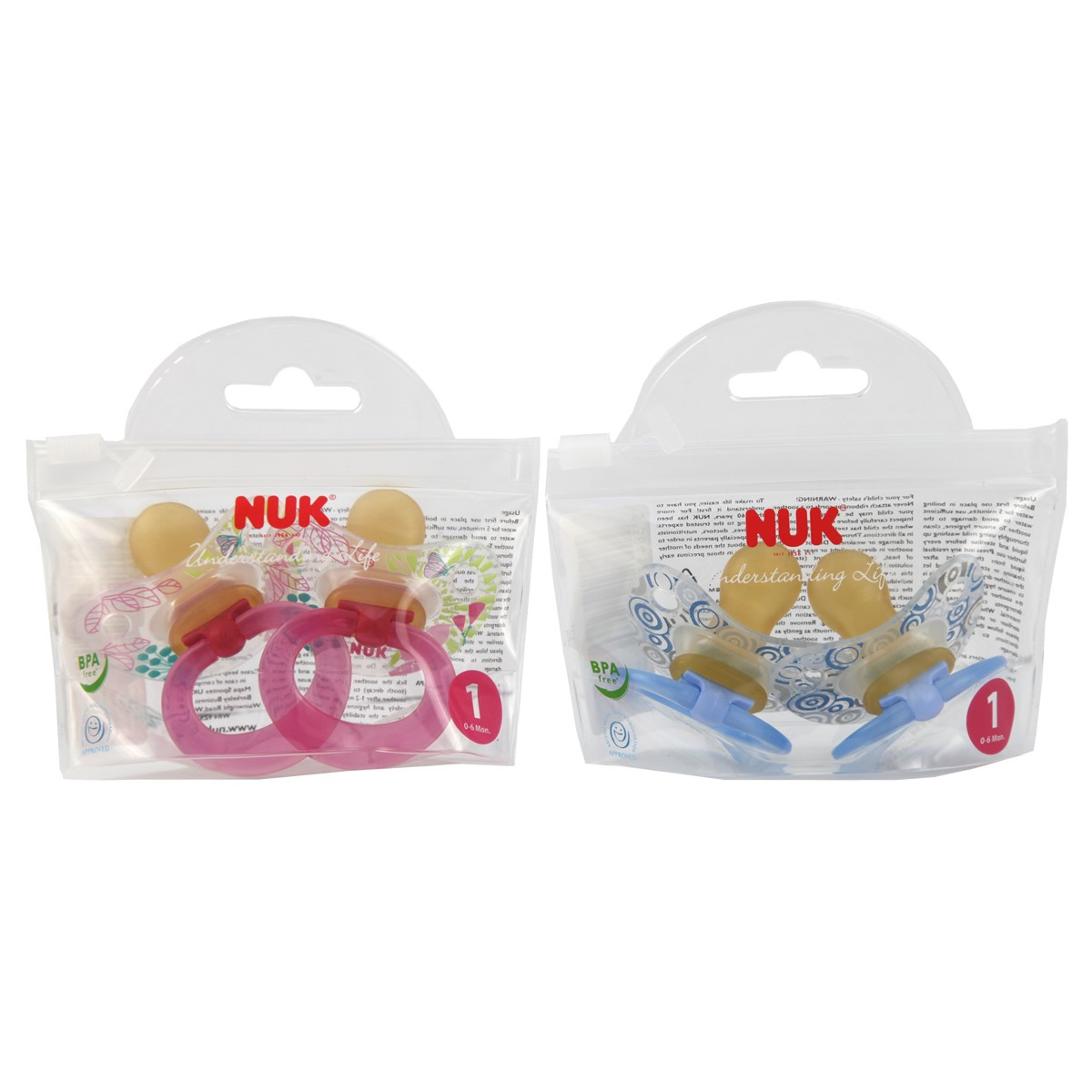 Nuk Classic Happy Kids Latex Soother Size 1 (0 - 6 months)