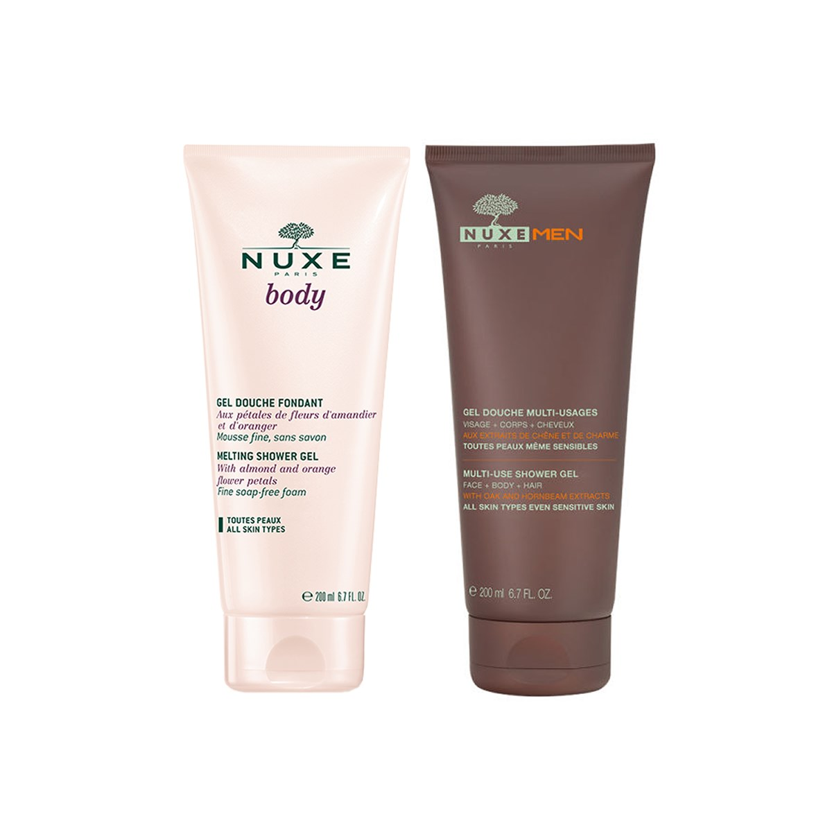 Nuxe Body Shower Gel Duo Pack For Him and For Her