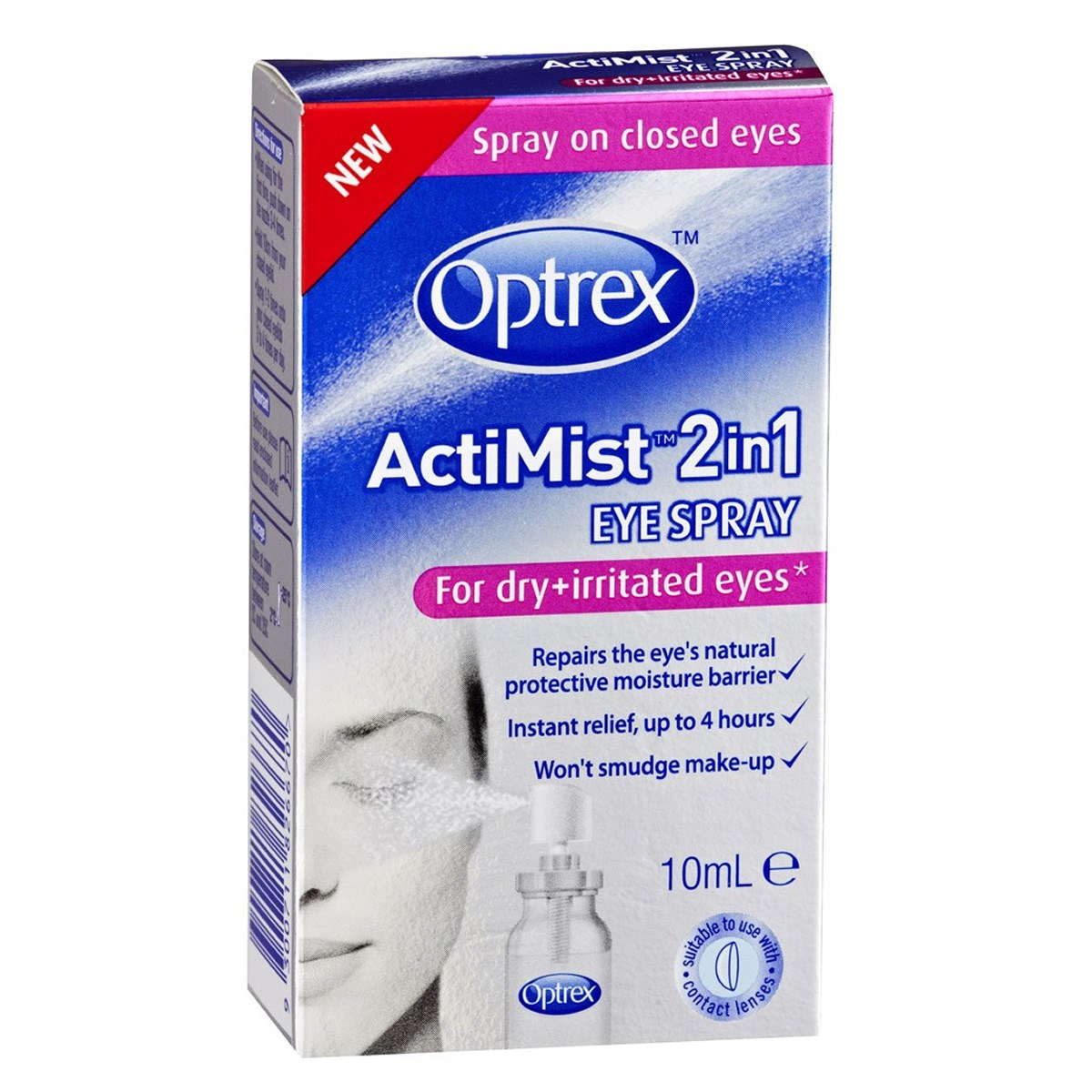 Optrex ActiMist 2in1 Eye Spray - Dry and Irritated Eyes
