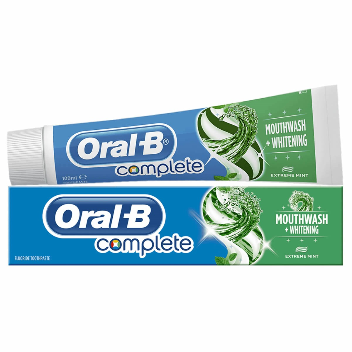 Oral-B Complete Mouthwash + Whitening Toothpaste