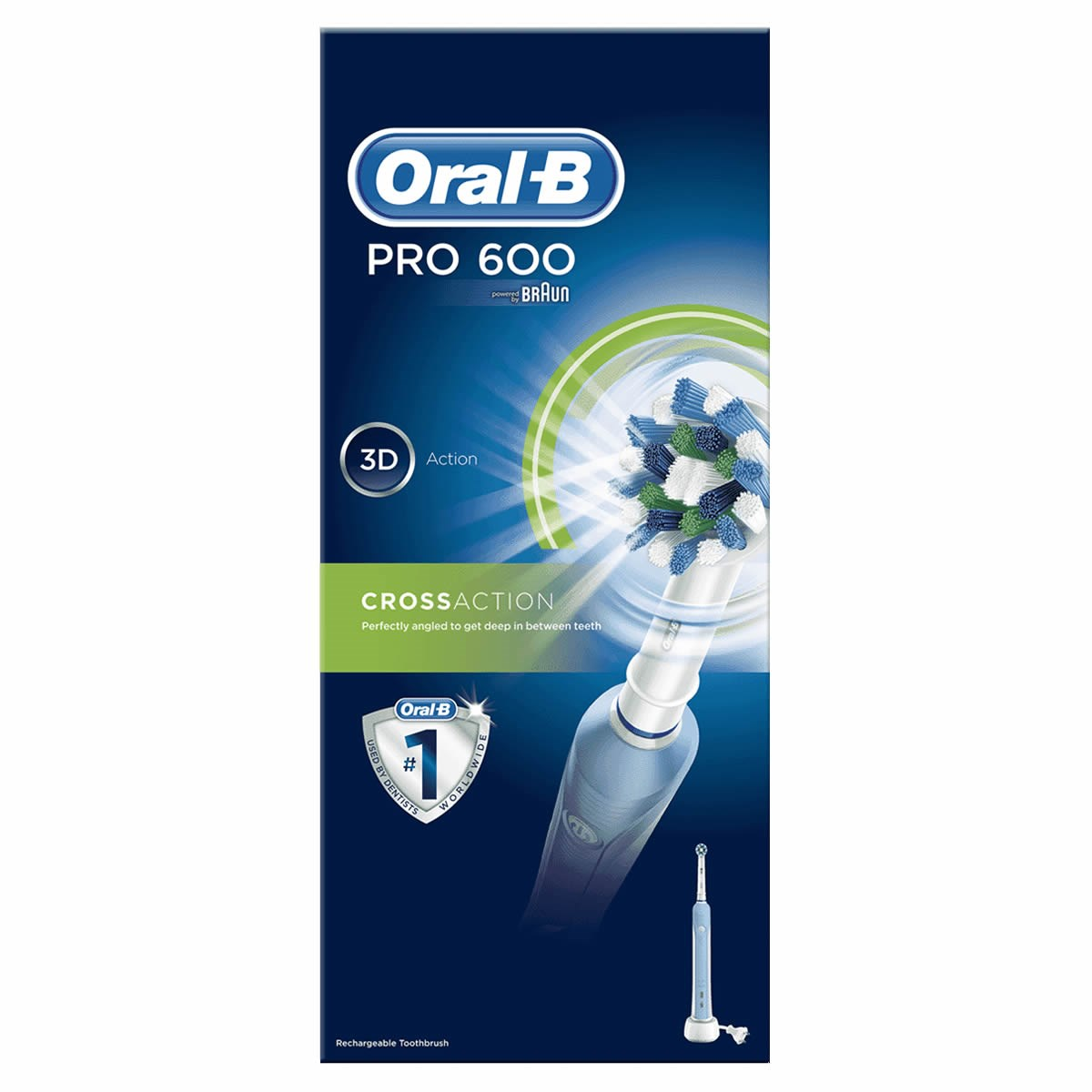 Oral-B PRO 600 CrossAction Rechargeable Electric Toothbrush