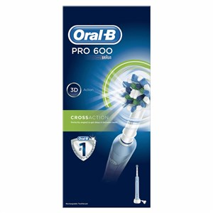 OralB PRO 600 CrossAction Rechargeable Electric Toothbrush