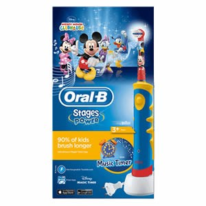 OralB Stages Power Kids Electric Toothbrush with Music Timer  Mickey Mouse