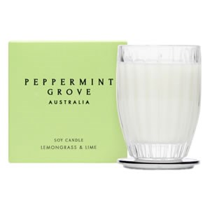 Peppermint Grove Australia Small Soy Candle - Lemongrass & Lime