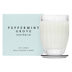 Peppermint Grove Australia Small Soy Candle - Wild Jasmine & Mint