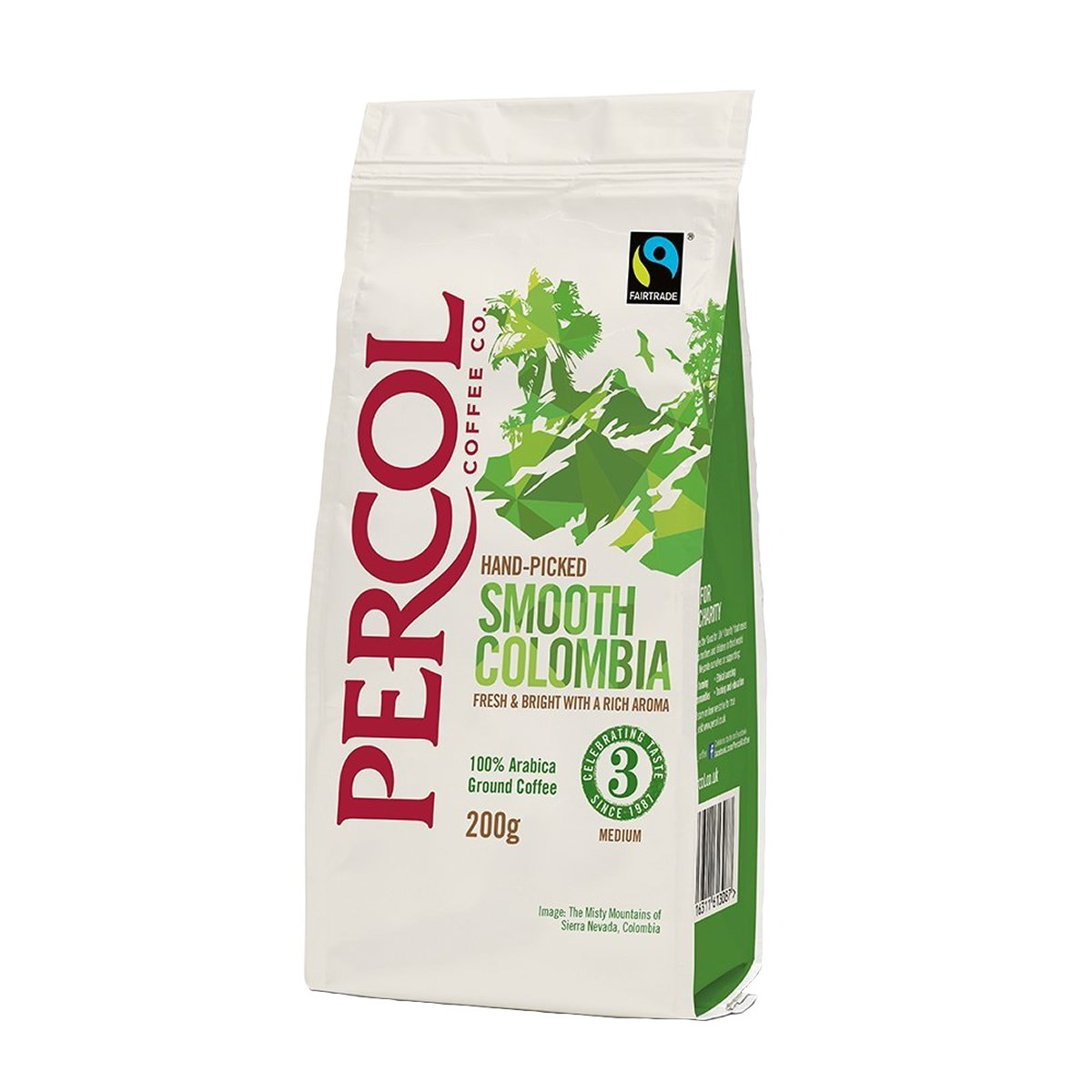 Percol Fairtrade Smooth Colombia Ground Coffee