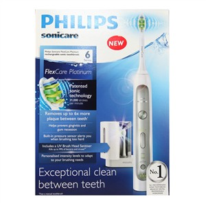 Philips Sonicare FlexCare Platinum Rechargeable Sonic Toothbrush HX9172/10