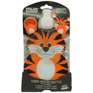 Polar Gear Fold Flat Water Bottle - Tiger