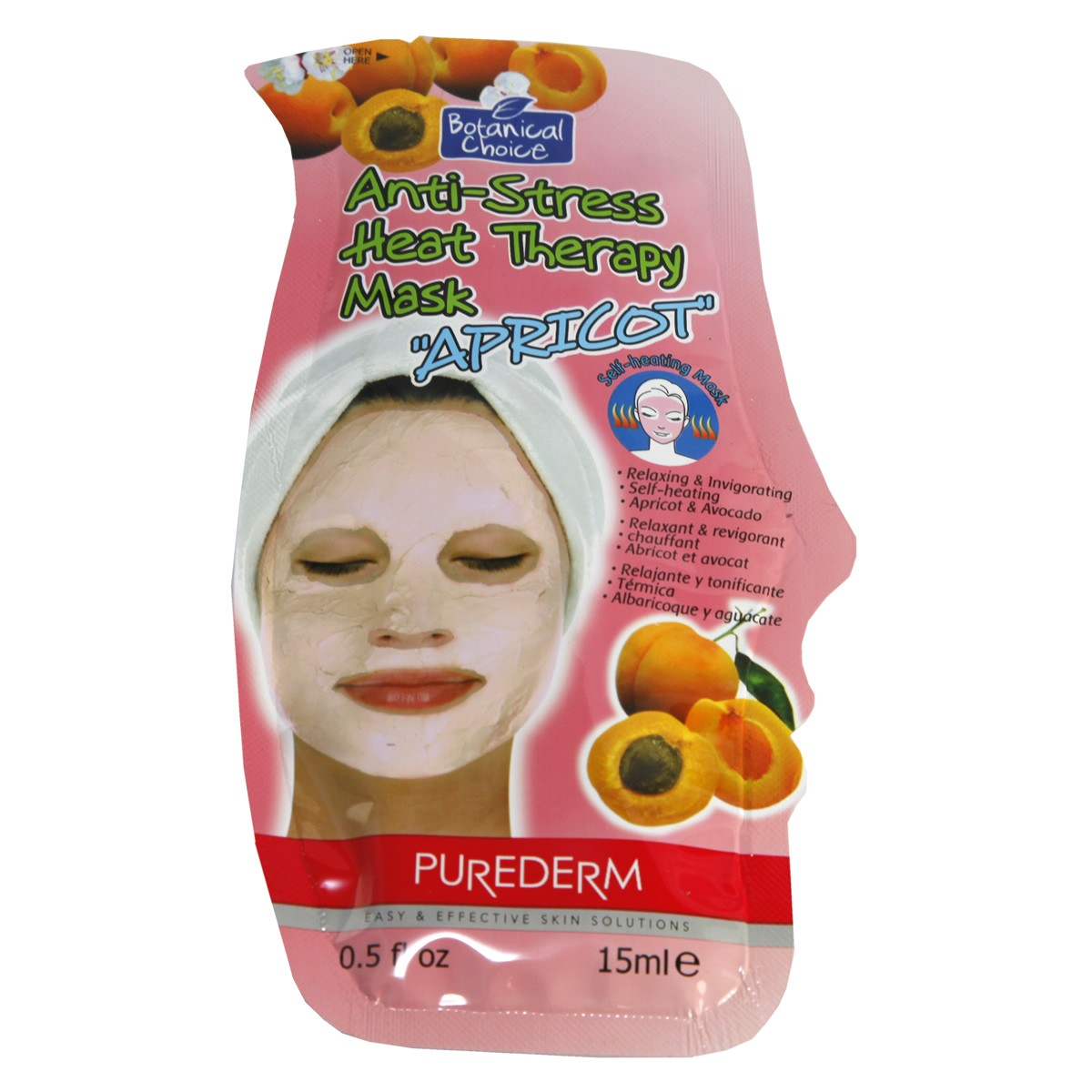 PureDerm Anti- Stress Heat Therapy Mask with Apricot