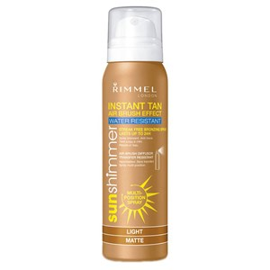 Rimmel Sun Shimmer Instant Tan Air Brush Effect Water Resistant Spray- Light Matte