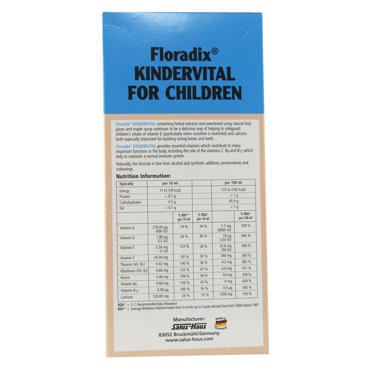 Salus Floradix Kindervital for Children