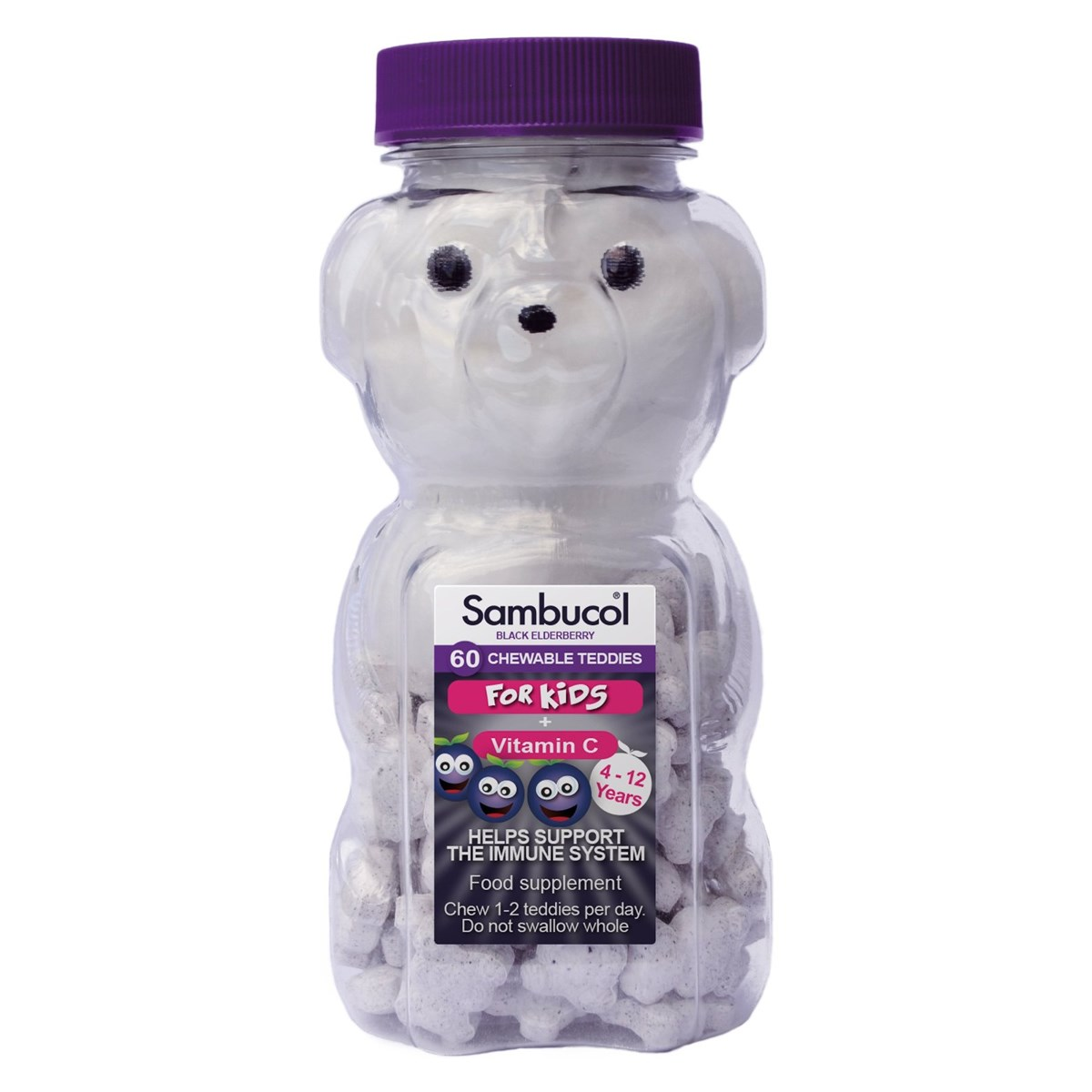 Sambucol Black Elderberry Teddies Chewables