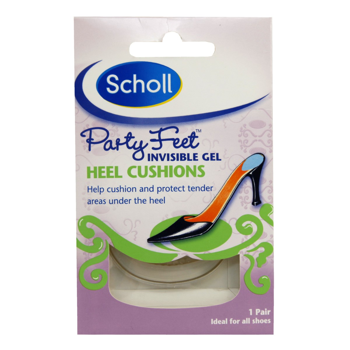 Scholl Party Feet - Invisible Gel Heel Cushions