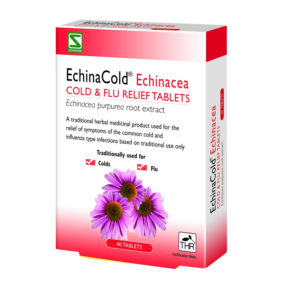 Schwabe EchinaCold Echinacea Cold & Flu Relief Tablets