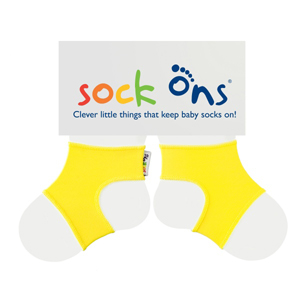 Sock Ons Keep Baby Socks On Brights - Yellow