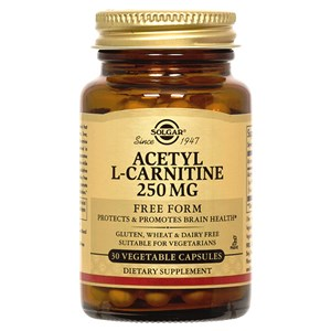 Solgar Acetyl-L-Carnitine 250 mg Vegetable Capsules
