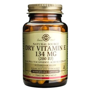 Solgar Dry Vitamin E 134mg (200iu) Vegetable Capsules