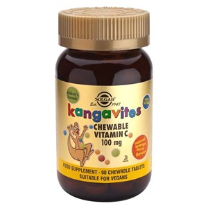 Solgar Kangavites Vitamin C 100 mg Chewable Tablets
