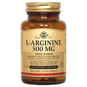 Solgar L-Arginine 500 mg Vegetable Capsules