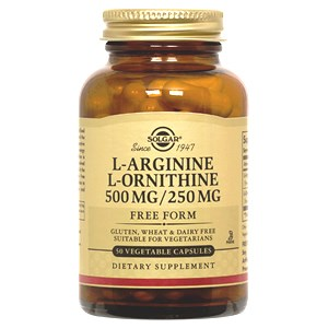 Solgar L-Arginine/L-Ornithine 500/250 mg Vegetable Capsules
